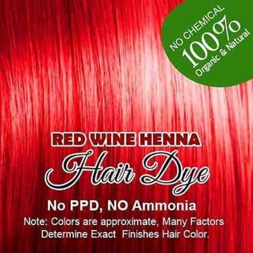 (Red wine) Henna Hair Color – 100% Organic and Chemical Free