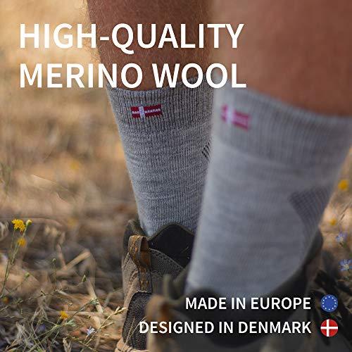 Merino Wool Hiking  Walking Socks for Men Women  Kids Trekking Outdoor Cushioned Breathable 1 Pack