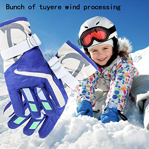 9949191f1 YR.Lover Children Ski Gloves Winter Warm Outdoor Riding Thickening ...