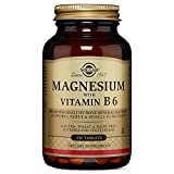 Solgar - Magnesium with Vitamin B6 Tablets  250 Count