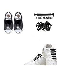 Dodjivi No Tie Shoe Laces, Silicone Shoelaces Lock Bands for Adults - 16pcs DIY, Eco-Friendly & Waterproof