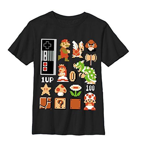 Nintendo Little Boys Pixel Set Graphic T-shirt, black, YM