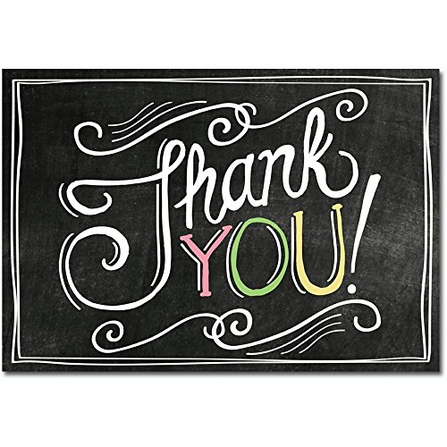 Classic Chalkboard Thank Note Cards