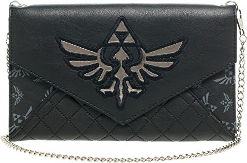 Zelda Skyward Sword Logo Quilted Envelope Purse w/ Chain