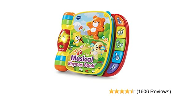 Musical Toys For 1 Year Olds : Amazon.com: vtech musical rhymes book: toys & games