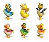 (US) Puzzled Duck Refrigerator Bobble Magnet (Set of 6)