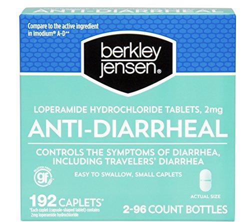 Berkley and Jensen Anti-Diarrheal Medicie Loperamide Hydrochloride Tablets 2 mg 192 Caplets Per Order