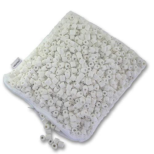 AQUACITY Premier Bulk Bio Ceramic Rings Filter Media for Aquarium Koi Fish Pond Reef Filter (5 ()