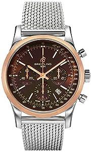 Breitling Men's UB015212-Q594 Transocean Analog Display Swiss Automatic Silver Watch