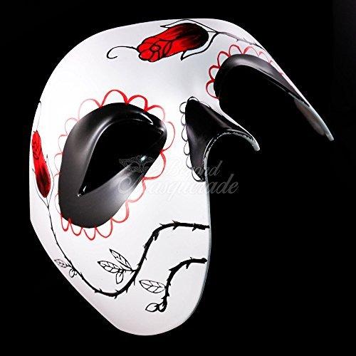 (Day of the Dead Masquerade Mask - Foot Print Themed Dia De Los Muertos Halloween)
