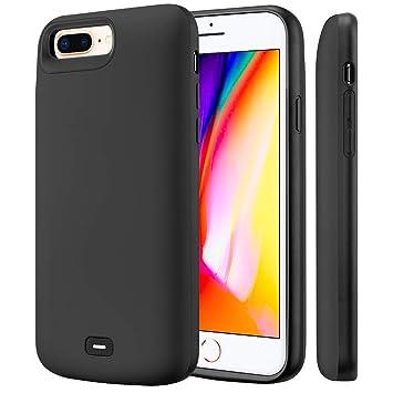 Fey-EU Funda Batería para iPhone 6 Plus/6S Plus/7 Plus/8 Plus, 8000mAh Funda Cargador Portatil Batería Externa Ultra Carcasa Batería Recargable Power ...
