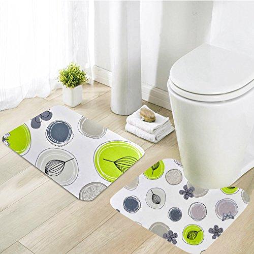 Menghao 2PCS Bathroom Rug Set Extra Soft Non-Slip Kids Memory foam Bath Mat29.5