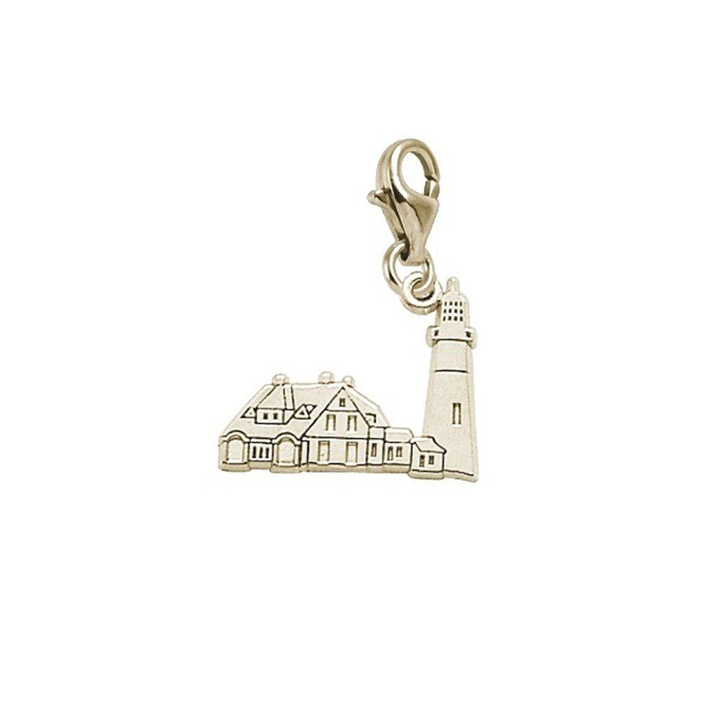 Portland Lighthouseme Charm With Lobster Claw Clasp Charms for Bracelets and Necklaces