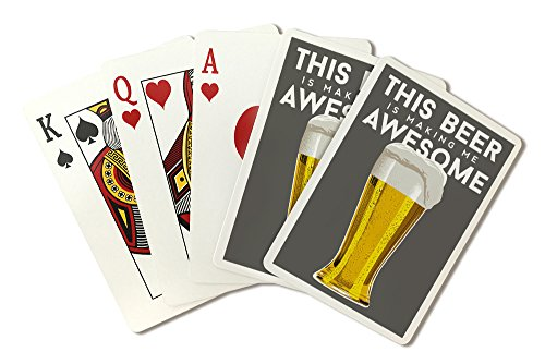 Poker Pilsner Glass - Pilsner Glass - Beer Quote (Playing Card Deck - 52 Card Poker Size with Jokers)