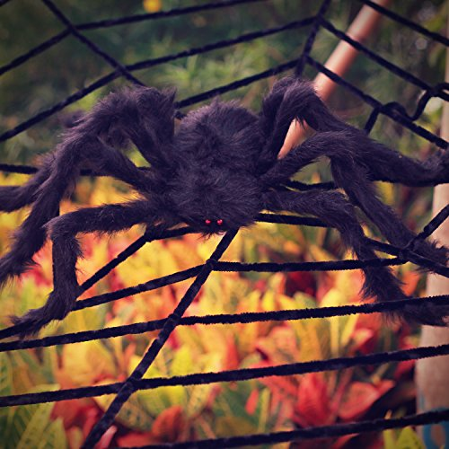 OTBBA Halloween Decorations, Giant Spider Decorations 12FT Spider Web Decorations Creepy Decor Halloween Outdoor Indoor by OTBBA