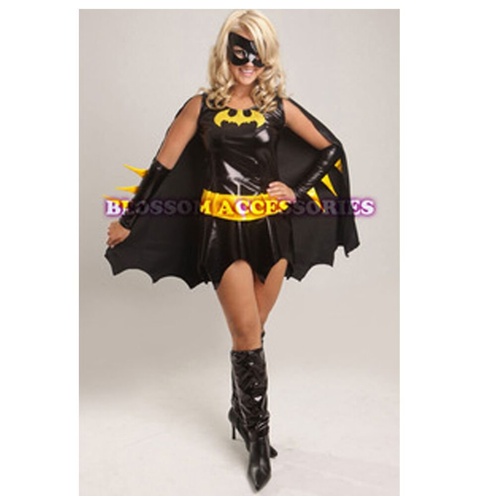 Halloween Women's Sexy Batgirl Adult Black Costume