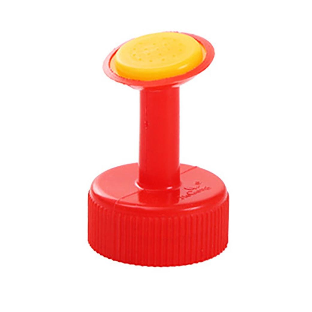 Inverlee Watering Equipment Bottle Top Watering Garden Plant Sprinkler Water Seed Seedlings Irrigation (Red)