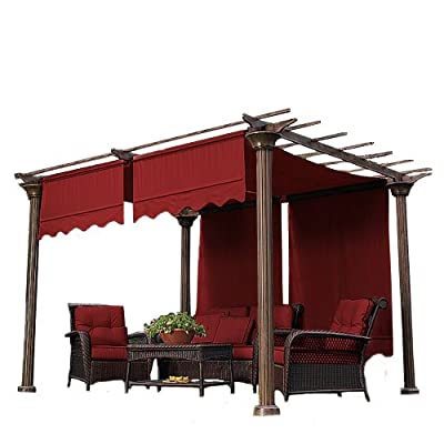 Garden Winds Universal Replacement Pergola Canopy II - Cinnabar : Garden & Outdoor