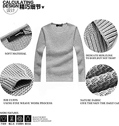 EVEDESIGN Mens Ribbed Slim Fit Sweaters Turtleneck Long Sleeve Knitted Pullover