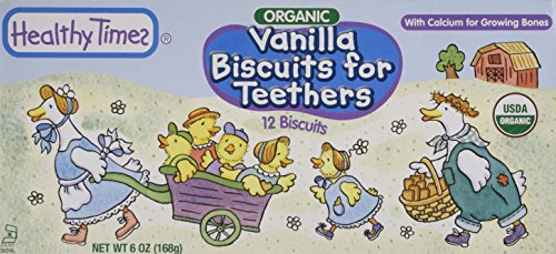 (Healthy Times Organic Biscuits For Teethers Vanilla - 6 oz)