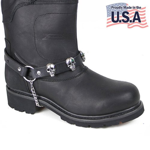 Motorcycle Skull Boot Chain - One Size - Skull Harness Boots