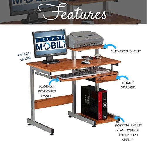 Complete Computer Workstation Desk Color Woodgrain
