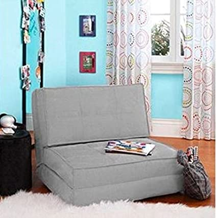 Charmant Flip Chair Convertible Sleeper Dorm Bed Couch Lounger Sofa (Gray)