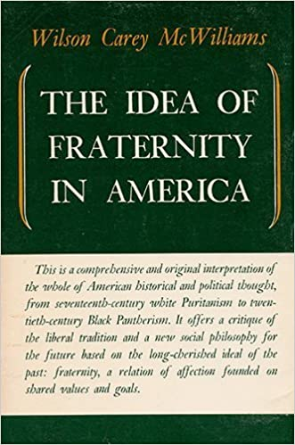 Book The Idea of Fraternity In America by Wilson Carey McWilliams (1974-01-01)