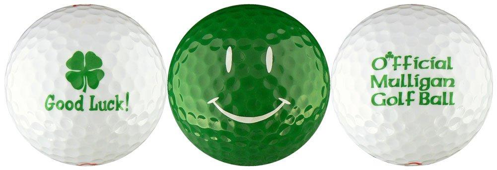 EnjoyLife Inc Good Luck Shamrock w/ Green Smiley Golf Ball Gift Set