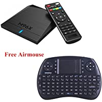 M96X Smart TV BOX Android 6.0 with Wireless Keyboard/Mouse 4K Amlogic S905X Quad Core 64bit 1G RAM 8GB EMMC Flash Wifi LAN HD2.0 Unlocked