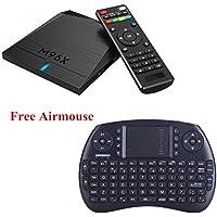 M96X Smart TV BOX Android 6.0 with Wireless Keyboard/Mouse 4K Amlogic S905X Quad Core 64bit 1G RAM 8GB EMMC Flash Wifi LAN HD2.0 Unlocked
