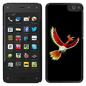 LECELL--Funda protectora / Cubierta / Piel For Amazon Fire Phone -- Pájaro Rojo Místico --