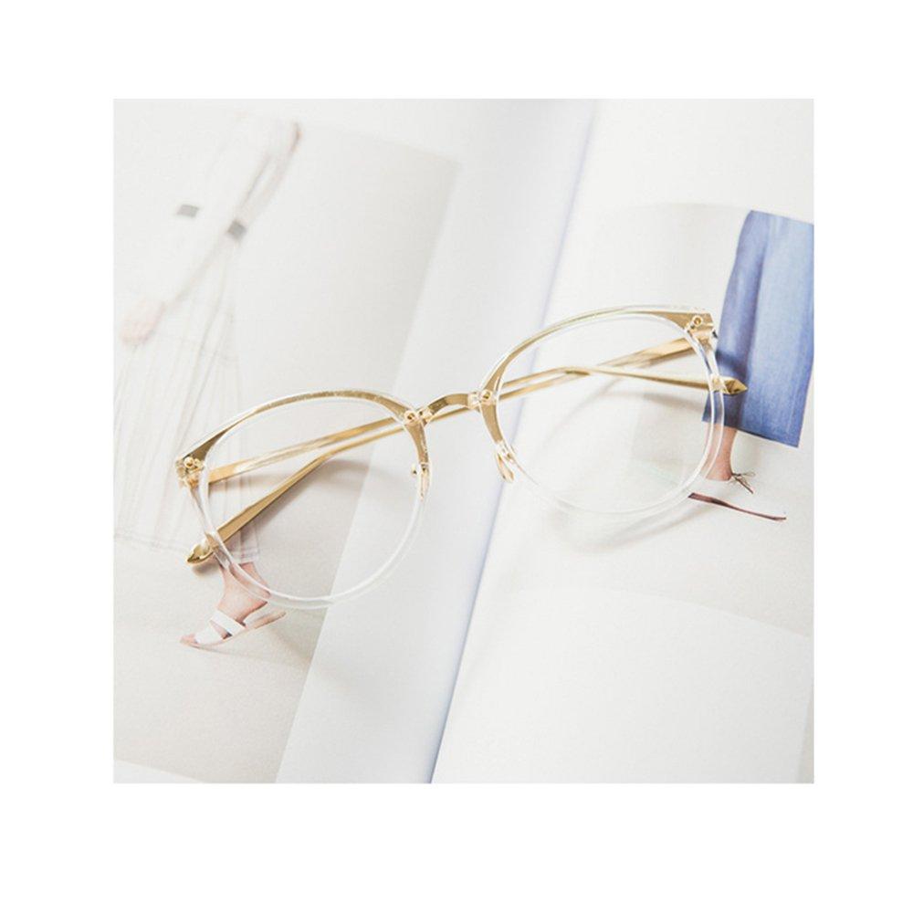 dc1cd66ad36efd Pingenaneer Montures de lunettes Rétro Rondes Lunettes de Vue Lentille  Claire pour Homme et Femme Lunettes Cadre Transparent