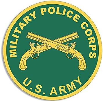 American Vinyl Black Armband Style MP Sticker Army Military Police Logo