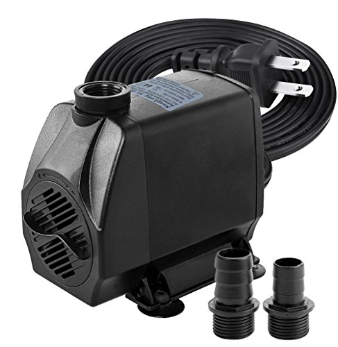 1050 GPH - Submersible Water Pumps for Aquarium, Tabletop Fountains, Pond, Water Gardens and Hydroponic Systems with One Nozzles, CE-ROHS Approved, 5.8ft Power Cord by Minerva
