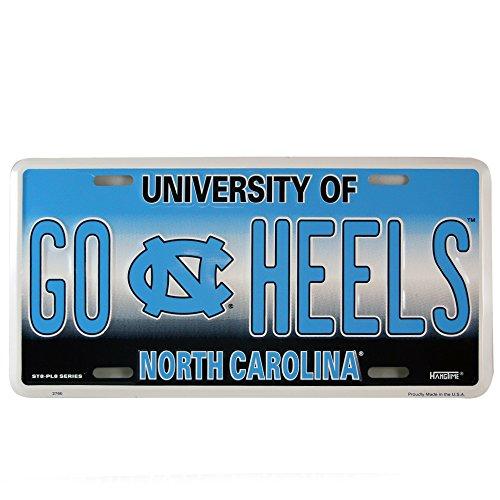 Tar Heels Logo License Plate (HangTime North Carolina GO HEELS NC Logo License Plate Wall Tag)