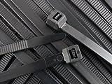 zip ties 48 - 48 Inch Black Extra Heavy Duty Nylon HVAC Cable Tie - 100 Pack