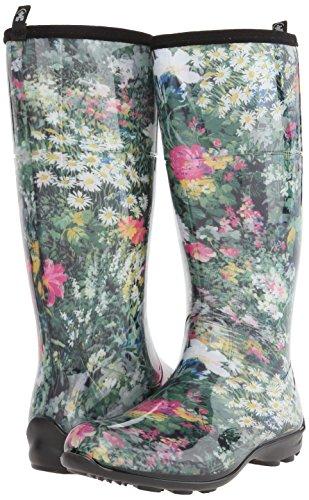 Floral Floral Regen Eden Damen Kamik Green Stiefel Gummi Wasserdicht Multicolored zxqwY