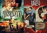 The Triple Hot and Spicy Feature Romeo & Juliet + Moulin Rouge & Australia Bas Luhrmann DVD Movie Set Bundle Hugh Jackman Nicole Kidman Leonardo DiCaprio