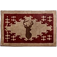 HiEnd Accents Lodge Deer Bath Kitchen Rug, 24 x 36