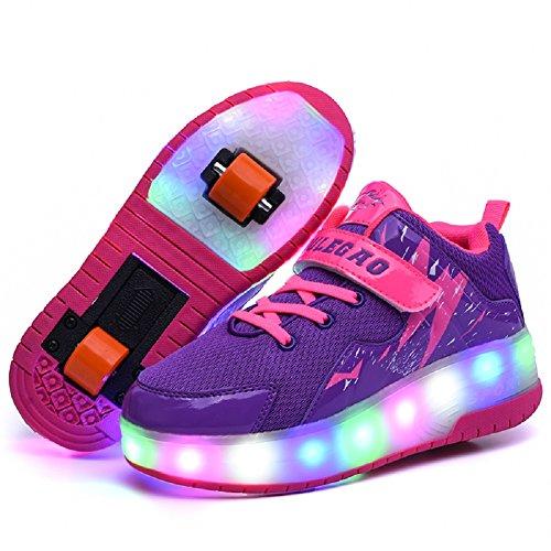 Nsasy Roller Skates Shoes Girls Boys Roller Shoes Kids Wheel Shoes Roller Sneakers Shoes