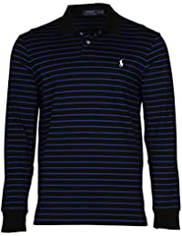 Polo Ralph Lauren Men's Interlock MED-FIT LS Polo Shirt Stripe