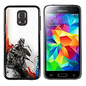 A-type Arte & diseño plástico duro Fundas Cover Cubre Hard Case Cover para Samsung Galaxy S5 Mini (Not S5), SM-G800 (Metal Gear Soldado)