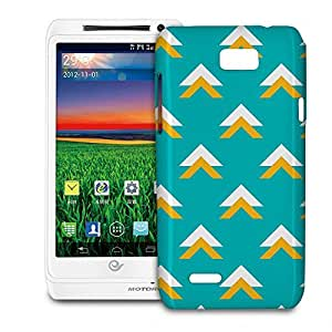 Phone Case For Motorola XT788 - Geometric Abstract Triangles Teal Back Premium