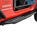 nerf bar for jeep - E-Autogrilles EAG Side Steps Armor for 07-17 Jeep Wrangler JK 2 Door Rock Sliders Nerf Bars Running Board Rail Step