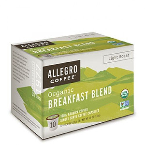 - Allegro Coffee Single Serve Coffee Capsules (Breakfast Blend, 4 Boxes)
