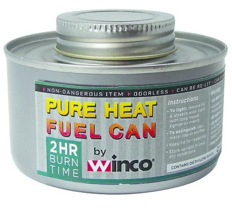 Winco C-F2, 2-Hour Wick-Type Chafing Fuel Can with Twist Cap for Chafing Dishes and Coffee Urns (1)