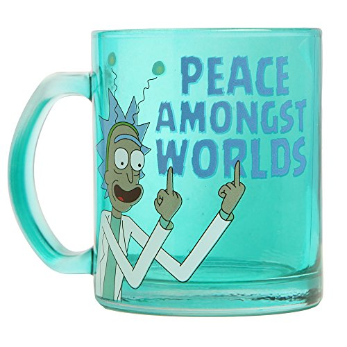 RICK AND MORTY Rick & Morty Peace Amongst Worlds Glass Coffee Mug