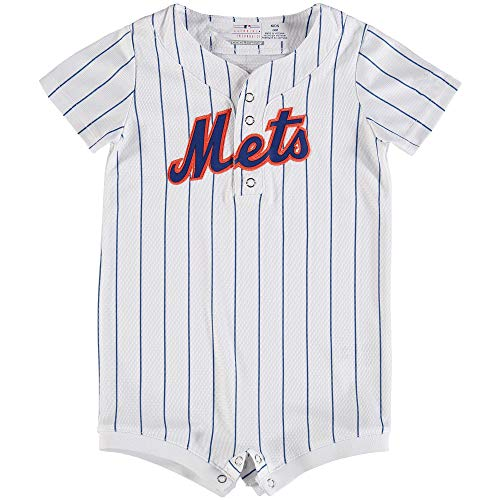 Outerstuff MLB Newborn Infants Cool Base Home Alternate Romper Jersey (24 Months, New York Mets Home White)