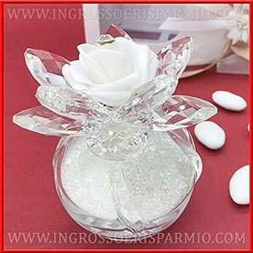 Bomboniere Matrimonio Raffinate.Ingrosso E Risparmio Ampolla In Vetro Con Perline Fiore In